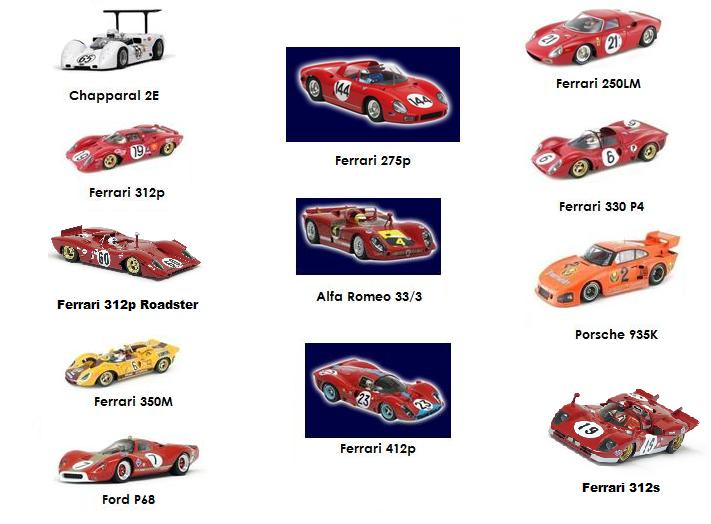 Racer Resin Eligible Cars